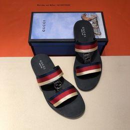 8eadbe8f697 2019 sandals mse Frau Männer Kausal Folien Hochwertigem Echtem Leder Sommer  Outdoor Strand Sandalen Hausschuhe Größe