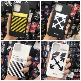 2019 tarjeta g3 Rayas fuera pintada de teléfono para el iPhone de 11 x max Pro xs xr max 7 8 Plus de Shell Negro diseñador blanco de la cubierta trasera Flecha Shell TPU A02