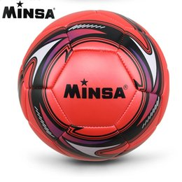 New Brand 2017 MINSA Official Standard Soccer Ball Size 5 Training Futebol Football  Ball futbol Match Voetbal Bal. Supplier  blacktiger 7d16f21eb2dd7