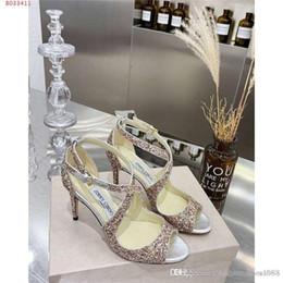 paillettes de fleurs talons hauts Promotion Chaussures à talons hauts pour femmes en tissu à fleurs en sequins avec sac à lacets et sandales