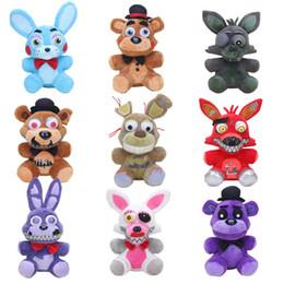 25 cm Beş Nights Freddy '; S Fnaf Peluş Bebek Oyuncak Kabus Funtime Springtrap Freddy Foxy Mangle Bonnie Bunny Dolması Hayvanlar nereden toptan dolma penguen oyuncaklar tedarikçiler