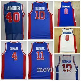 dbf1639317a90 Detroit Reggie 10 Jersey Pistons Rodman 11 Isiah Dennis Thomas # 40 ans  Laimbeer 4 Joe Bill Dumars 33 Colline 0 Andre Grant Drummond 1 Jackson