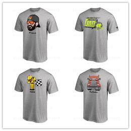 Alex Bowman 2018 NASCAR Serie Cup Playoff Emoji T-Shirt Camicie grigie magliette e top in cotone con logo stampato da maglia di pelli fornitori