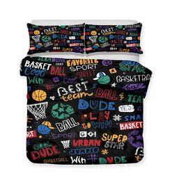 weihnachten könig duvet Rabatt Basketball 3 stücke Luxus Bettwäsche Set Bettbezug Set King Size Kinderzimmer Zurück zu Schule Bettbezug Kissenbezug Sets Weihnachtsgeschenk