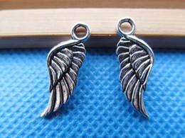 100 unids 8 mm x 21 mm antiguo tono de plata gabinete lindo solo ala de ángel pulsera colgante encanto / hallazgo, accesorios de bricolaje fabricación de joyas desde fabricantes