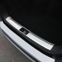 soleiras de porta peugeot Desconto Aço Car Styling Acessórios 1PCS inoxidável interior ou placa externa pára-choques traseiro protector de Corte Para Hyundai Kona 2017 2018