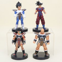 figurine raditz Promotion 13cm 4pcs / Lot Anime Anime Dragon Ball Z Figurines Dragonball Sangoku Vegeta Raditz Nappa KINYO Pvc Figure Jouets pour enfants