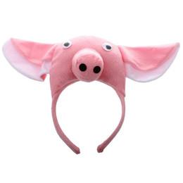Costumi carino di maiale online-Mascherina per adulti della fattoria dell'animale animale della fascia del maiale 3D Mascherina sveglia del partito della fascia del maiale del costume Decorazione divertente del partito