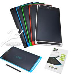 Paquete de gráficos online-Tabletas de escritura LCD inteligentes de 8.5 pulgadas Dibujo Tablero de pintura Cojines de escritura a mano Tableta electrónica gráfica para niños Oficina paquete minorista