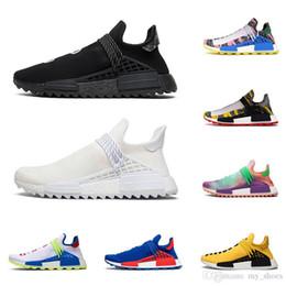 2020 race humaine nmd hu hommes williams femmes pharrell chaussures de course NERD Homecoming Blank Canvas Noir Paquet solaire mens sport d entraîneur