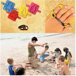 Ferramentas de areia do bebê on-line-4 pcs formas de animais bebê crianças praia areia molde selo divertido conjunto de ferramentas