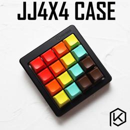 Анодированный алюминиевый корпус кубической для jj4x4 jj4 пользовательские клавиатуры акриловые панели сталинита диффузор может поддерживать роторного бандажа сторонник supplier acrylic braces от Поставщики акриловые брекеты