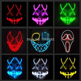 luce principale 3v Sconti Maschera EL Wire Light Up Neon LED Mask per Halloween Domani Land Spaventoso Maschere Cosplay Party da 3V Steady on Driver