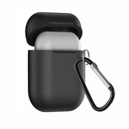 Caso do receptor do carregador sem fio on-line-Qi carregador sem fio case para airpods fone de ouvido padrão qi airpods sem fio cobrando tampa do receptor caixa de carregador