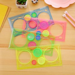 Intelligent 1pc Multifunctional Spirograph Geometric Ruler Drafting Tools Learning Drawing Tool Plastic Ruler School Stationery Supplies Office & School Supplies