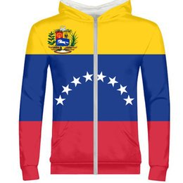 custom flag making Promo Codes - Venezuela Slovakia Cuba male youth student custom made name number picture zipper sweatshirt whole body print flag boy clothes