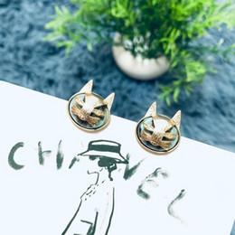 coruja brincos de ouro Desconto 2019 nova moda coruja turquesa brincos de ouro para mulheres marca de Moda designer de jóias clássico para as mulheres
