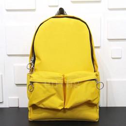 Gelbe rucksacktaschen online-2020OWWEISSTasche Limited edition Männer Taschen Mensentwerfer Rucksäcke der Frauen große Kapazität gelben Rucksack