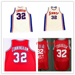 Maglia da basket NCAA college retro jersey Billy 32 Cunningham ritorno al passato maglia cucita cuciture personalizzate taglia S-5XL da giallo uniforme di pallacanestro verde fornitori