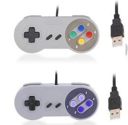Snes usb online-HOTsnes Classic USB Controller Controladores de PC Gamepad Joypad Joystick Repuesto para Super Nintendo SF para SNES NES Tablet PC LaWindows MAC