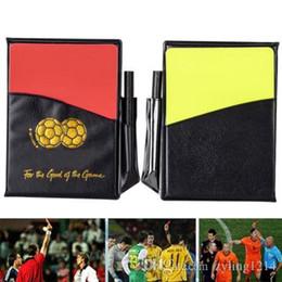 2019 2020 Fútbol Fútbol Deportes Árbitros Tarjetas Amarillo Rojo Lápiz Monedero Cuaderno Conjunto desde fabricantes