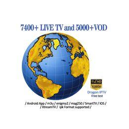 Caixa de tv Android IPTV Assinatura Francês UK Sports canal Abonnement código Iptv incluindo 40 + Países 7000 + canais de TV ao vivo conta IPTV de