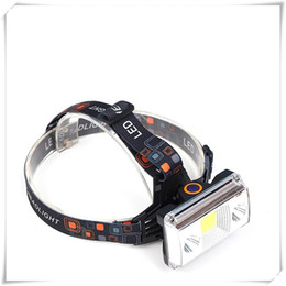 cargador de linterna cree q5 Rebajas Faros 10000 lúmenes COB LED Faros de carga USB Linterna táctica 4-modo bicicleta linterna Cabeza de caza Luz para senderismo y acampar