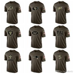 2019 vikings t-shirt NOUVEAU 2019 Vikings Patriots Saints Géants Jets Raiders hommes t shirt Salut Au Service Dri-FITT-Shirt promotion vikings t-shirt