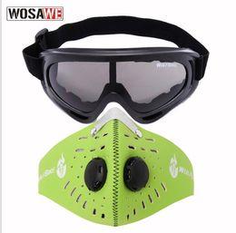 2 stücke Motorradbrillen Maske Winddicht Staubdicht UV Schutz Brillen Sicherheit Fahrrad Motorrad Taktische Brillen Gesichtsmasken von Fabrikanten