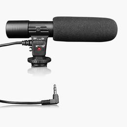 Videocámara de micrófono online-Micrófono de cámara SLR MIC-01 Fotografía Cámara de video Micrófono de grabación estéreo para videocámara digital réflex digital