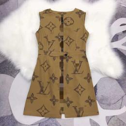 Linea di pannello online-429 Nuovo arrivo 2019 Primavera Plus Size Abito Runway Dress Paneled Empire Luxury Dress Over Knee TB
