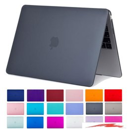 cáscara del ordenador portátil macbook Rebajas Nuevo MacBook Air 13 Inch Case 2018 Release A1932 Smooth Matte Frosted Hard Shell Cover para portátil MacBook Air 13 Inch con pantalla Retina Di