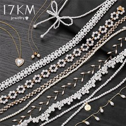 AB25 Cultured Freshwater Pearls Jewelry Bead Chain Necklace Collier Baroque