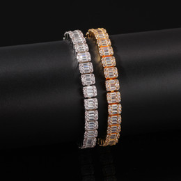 chiodo zirconio cubico Sconti Nuovo bracciale Hip Hop Bracciale con pendente pieno di diamanti di alta qualità Micro Ciondolo in rame con zirconi cubici Diamond Miami Cuban