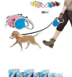 Cuerda de tracción automática para mascotas online-6styles 3M 5M Correas retráctiles para mascotas Correa Automática Flexible Cachorro de perro Gato Tracción Cinturón de cuerda al aire libre para perros pequeños y medianos FFA2610