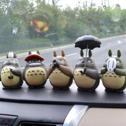 2019 actions de voiture 6 Designs 5 pouce Mon Voisin Totoro Figurines Jouets Miyazaki Hayao Modèle Jouets PVC Voiture Décoration Poupée Avec Boîte Au Détail MLA552 actions de voiture pas cher