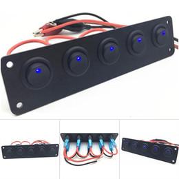 2020 управляемый пк 1 шт 5 Gang Switch Control Panel со светодиодной подсветкой Прочный портативный для автомобилей Boat M8617 скидка управляемый пк