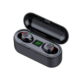 2019 meilleur casque bluetooth pour blackberry Sans fil Bluetooth écouteurs sans fil V5.0 F9 TWS LED casque Bluetooth avec affichage 2000mAh Power Bank casque avec microphone