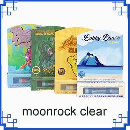 Spray a roccia online-Moonrock Clear Carts Razzle Dazzle Silverback Vape Cartridges 1.0ml Serbatoio olio spray Atomizzatore Blue Moon Rock 510 Vaporizzatore vs CARRELLI ESOTICI