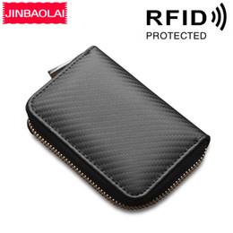 billetera de carbono Rebajas venta al por mayor tarjeta de órgano RFID de fibra de carbono que incluye paquete de tarjeta múltiple resistente a magnéticos paquete de tarjeta de crédito billetera cero envío gratis