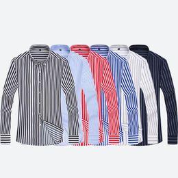 21fefe443 Stripe Shirt Fashion Long Sleeves Mens Dress Shirts Camisa Masculina Spring  Summer Brand Casual Male Shirt Tops