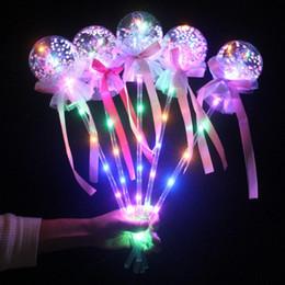 Magische feenstäbe online-Verkauf des Sommer heiße Fee Stick Licht Ball lieber Zauberstab Kinder Nacht Marktplatz Ausbreitung Explosionen leuchtendes Spielzeug A22