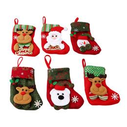Rosa decorado arbol de navidad online-Año Nuevo Decoración de Navidad Medias calcetín de Papá Noel regalo de los cabritos caramelo bolsa de Chirstmas árbol de Navidad fuera de la Florida Inicio Decorar