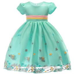 2019 vestidos de casamento lilás de prata Baby Girl flor vestido de menina bordado Vestido De Seda Princesa para a Festa de Casamento Crianças Vestidos para a Criança Crianças Natal
