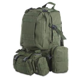 Army backpacks on-line-50L Mochila Ao Ar Livre Molle exército Tático Mochila Mochila Sports Bag À Prova D 'Água Camping Caminhadas Mochila Para Viagens