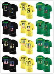 Custom 2019 Oregon Duck yellow green black Jersey 8 Marcus Mariota 10  Justin Herbert College Football Any Number Names Jerseys fb40c4d84