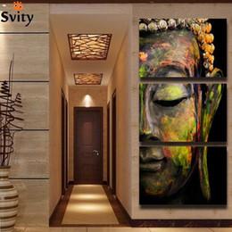 pino pinturas Desconto pino pintura envio gratuito de arte da parede da pintura de Buda pinturas da lona imagem vale F008 etiqueta de decoração para casa brindes parede