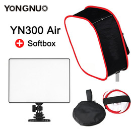 Argentina YONGNUO YN300 Air + Soft Light Box Softbox CRI 95+ 3200-5500K Cámara de 2000LM bicolor Panel LED Fotografía de estudio Fotografía Iluminación Suministro