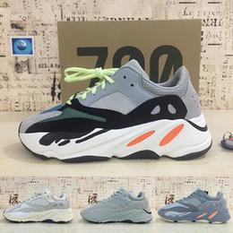 Kanye west кроссовки онлайн-Статические 700 Wave Runner Светоотражающие Kanye west V1 Inertia Mauve Кроссовки Мужчины Женщины Утилита Черный Vanta Tephra Дизайнерские кроссовки