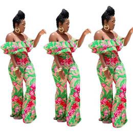 c659f3fe0e7 Bohemian Design Jumpsuit Hot Sale Women Straight Jumpsuits Pure Print  Strapless Short Batwing Sleeve Sexy Elegant Romper